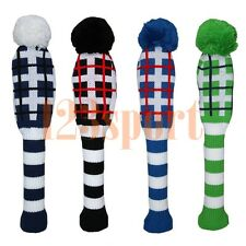 Wool Knitted Golf Driver Fairway Headcover For Titleist Adams Ping Mizuno Cobra