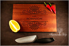 Name with Surname - Personalised Wooden Chopping Cutting Board Engraved