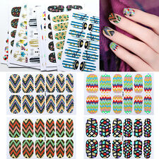 Water Transfer Full Nail Wrap Sticker Art Polish Foils Decal DIY Tips Decor FN