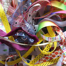 20 Metre Bundle Mixed Ribbon Trimmings Assorted Colours/Widths Offcuts