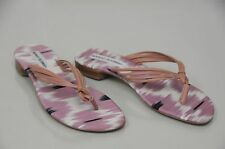 $735  New Manolo Blahnik Mauve Pink Leather Thong Flats Sandals Flats Shoes 36.5