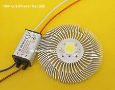 10W High power led chip + waterproof Driver + Heatsink for DIY