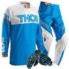 Thor NEW 2016 Youth Phase Hyperion Blue Motocross Kids Gloves Pants FREE JERSEY