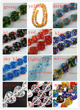 Millefiori Glass Heart Spacers 80pc 10mm/60pc 12mm/40pc 14mm/24pc 16mm