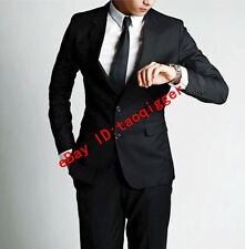 Fashion Mens Formal Slim Fit Suit/Suits one-button suit set 3PC Jacket pants tie