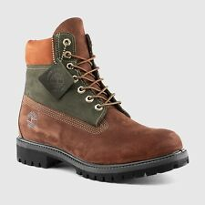 "Timberland 6"" Premium Boots Green and Brown TB0A135L242 Men's New"
