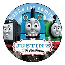THOMAS Tank Engine TRAIN Birthday Party Favor Personalized Round Labels Stickers