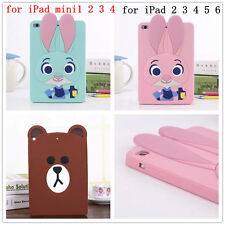 3D Zootopia Judy LINE Bear Silicone Back Cover Case For iPad Protective Shell