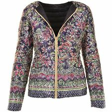 LILLY PULITZER Printed Floral Navy Reversible Lilah Jacket S M NEW WITH TAGS
