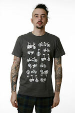 Mens Indie Retro 70s 80s Vintage Bike Cycle T Shirt Small & XL