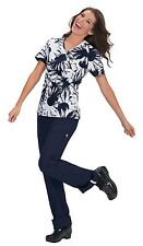 Koi Stretch Women's Joelle (297PR-SMR) Mock Wrap Floral Print Scrub Top