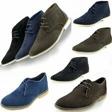 Mens Casual Navy Smart Formal Lace Up Mens Faux Suede Brogues Office Shoes Sizes