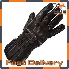 Spada Flame Waterproof Ladies Motorcycle Motorbike Leather Glove - Black
