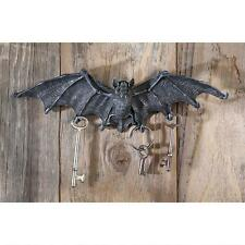 Gray Stone Bat Holder Mounted Gothic Vampire Dracula Key Hanging Wall Statue