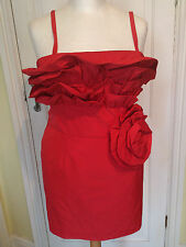 DRAMA QUEEN RED CORSAGE BUSTIER DRESS SIZES 16 18 20 PARTY COCKTAIL
