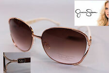 JESSICA SIMPSON Gold Oversized Aviator Designer Signature Sunglasses
