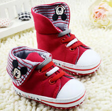 Toddle Infant baby Boy Girl high top soft Sole crib Shoes Sneaker size0-18months