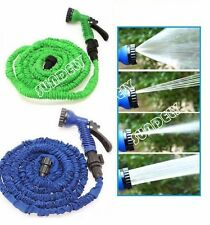 Expandable Flexible Garden Water Hose Pipe Spray Gun Nozzle 50 75 100 150 200FT