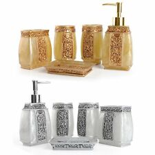 5 Pcs Resin Bathroom Accessories Set Tumbler Toothbrush Holder Cup Soap Dish【US】