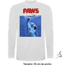 LONG-SLEEVED T-SHIRT LONG CAT SHARK CAT SHARK FUNNY T-SHIRT SLEEVE SIL DV001