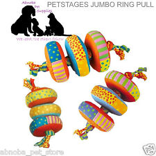 Petstages Jumbo Denim Ring Pull Floppy & Fun Easy to Grasp Toss & Return Dog Pup