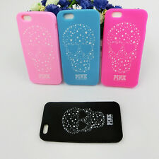 2016 New Fashion PINK SKULL Soft Silicone Case Cover for Apple iPhone Cell Phone