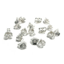 925 Sterling Silver Earring Butterfly Back Stopper Stud Findings 10pairs100pairs