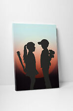 Banksy Girl Meets Boy at Sunset Gallery Wrapped Canvas Print. BONUS BANKSY DECAL