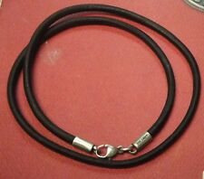 JAMES AVERY  Leather  Rustic Cord Necklace and Leather Cord Black  Necklace