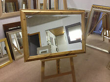 SHAPED SOLID PINE WALL AND OVERMANTLE MIRRORS - VARIETY OF COLOURS AND SIZES