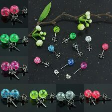 Ear Ring Candy Color 6mm Ball Bead body Piercing Earrings studs Stars Dot Pair