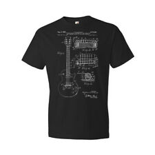 Gibson Les Paul McCarty Guitar T-Shirt Patent Art Gift Guitarist Teacher Player