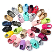 Baby Fashion Soft Sole Leather Shoes Toddler Infant Boy Girl Tassel Moccasin AUZ