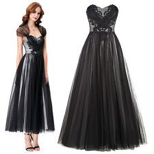 New Vintage Soft Tulle Ball Gown Evening Prom Party Housewife Dress US 2-16