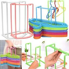 4 Color Smart Design Clothes Hanger Stacker Holder Storage Organizer Rack