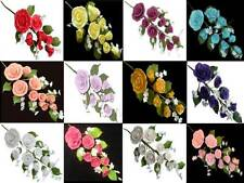 LARGE MEDIUM SMALL XS SUGAR ROSE SPRAY BOUQUET WEDDING CAKE TOPPER DECORATIONS