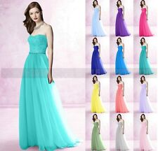 Long Chiffon Bridesmaid Evening Formal Party Ball Gown Prom Size 6+8+10+12+14+16