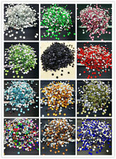 DIY 4/ 6/ 8/ 10mm Resin Rhinestone Gem Facets Flat Back Drill Craft Pick Colors