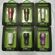 Metal 2.1A+1A 2 Dual USB Port Car Charger Adapter For iPhone Samsung HTC C003