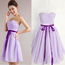Summer Chiffon Short Lilac Homecoming DRESS Cocktail Prom Party Club Mini Gown