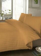 Royal Hotel Comfort Soft Gold Striped 1200 TC Bedding Cotton Combo Set All Size