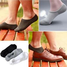 New 6 Pairs Men Loafer Boat Invisible No Show Nonslip Liner Low Cut Cotton Socks