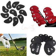 Set of Golf Club Head Cover Wedge Iron Protective Headcovers Counter + Retriever