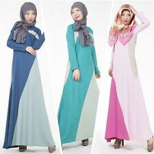 Women Long Dress Muslim Kaftan Abaya Jilbab Islamic Cocktail Party New Dress