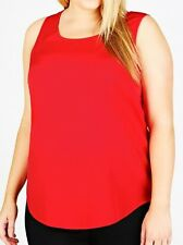 womens Plus size 16 red sleeveless top/blouse with a small pocket on the front