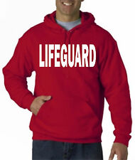 "LIFEGUARD HOODIE HOODY NEW JACKET SWEATSHIRT LIFE GUARD SHIRT RED 6"" TALL Front."