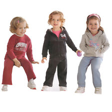 Girls Impidimpi Casual Jogging Track Top & Bottoms Set Pink Grey And Navy
