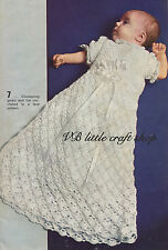 Delicious christening gown crochet pattern. Copy from vintage booklet.