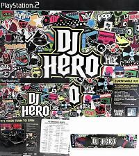 NEW Activision DJ Hero Bundle w/Turntable Music PS2 Video Game Online CHOP