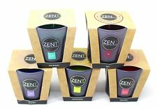 7cm x 7cm ZENT SCENTED PILLAR GLASS JAR CANDLE BRAND NEW 5 SCENTS AVAILABLE